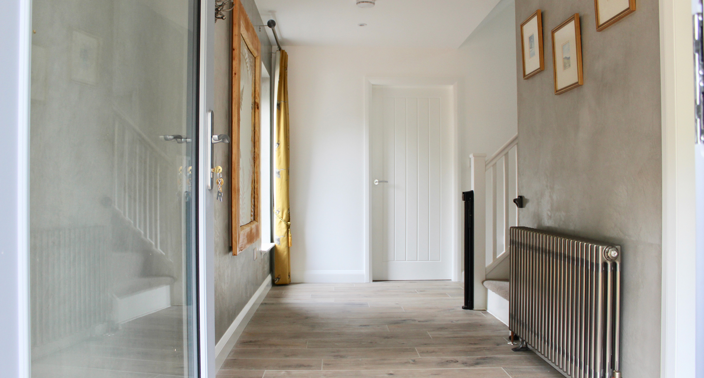 Holiday cottage hallway